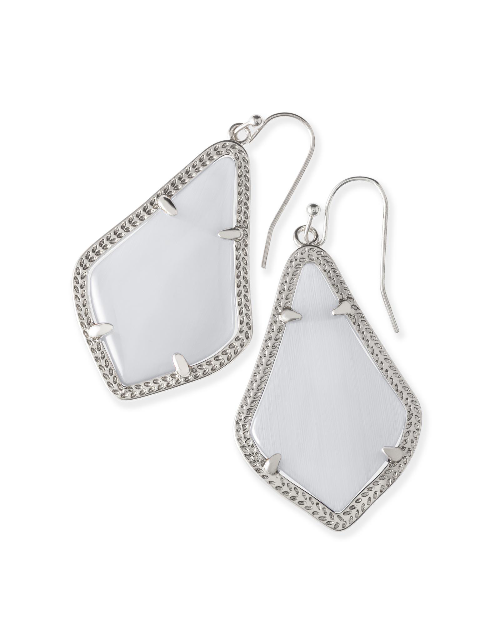 Alex Silver Earrings In Slate