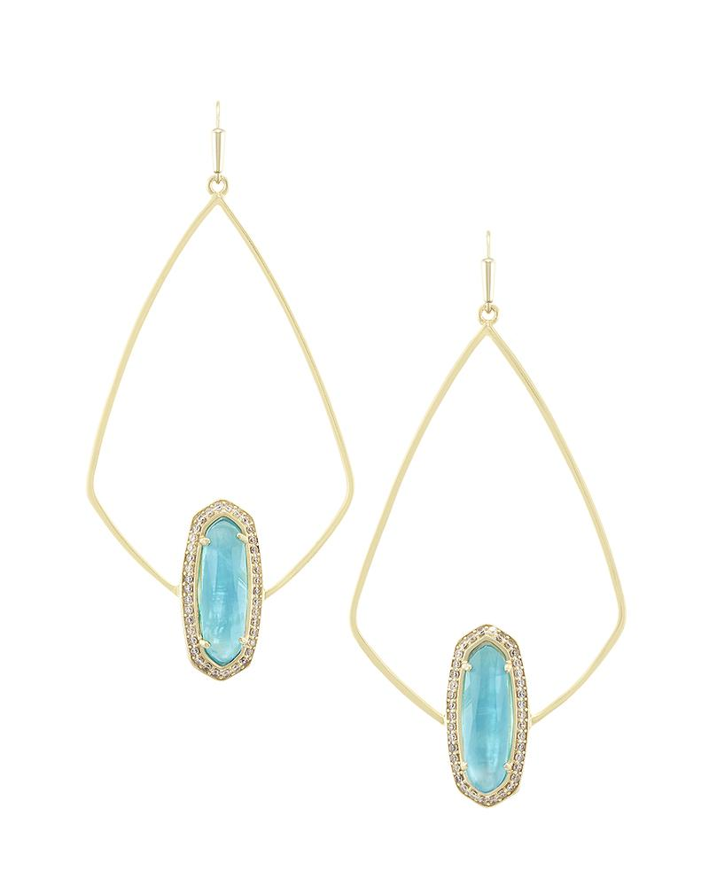 Arianna Earrings in London Blue Illusion