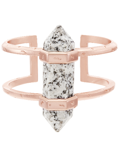 Shelli Cuff Bracelet in Gray Granite