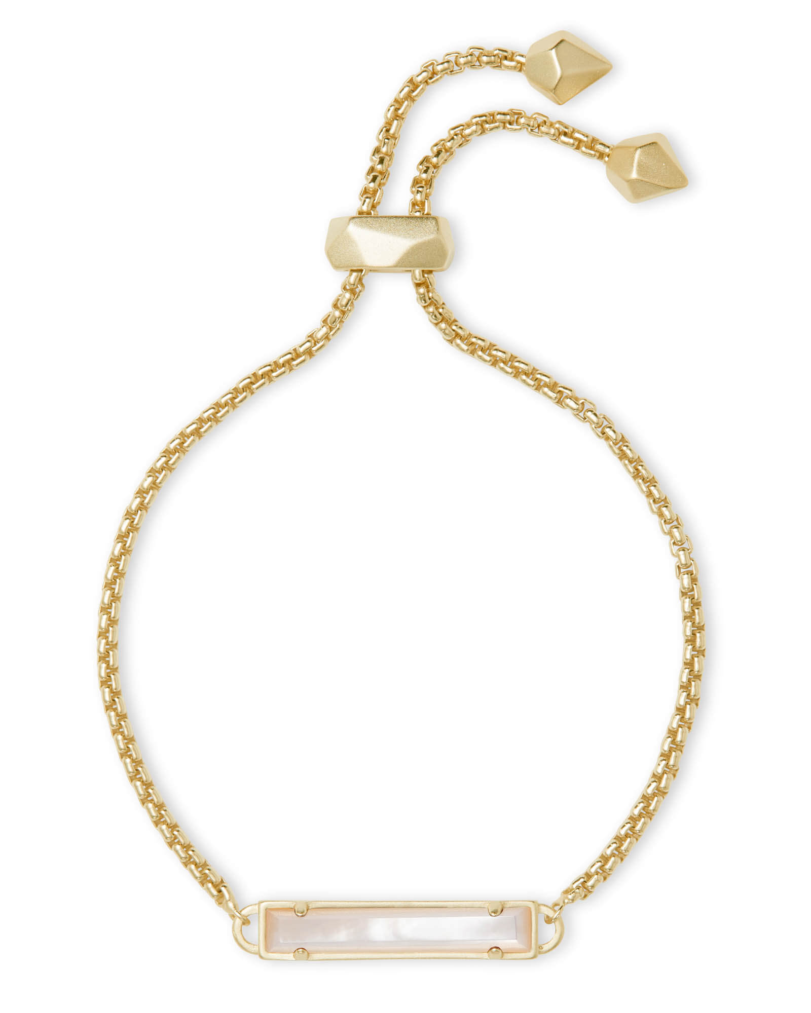 Stan Gold Adjustable Chain Bracelet in Ivory Pearl
