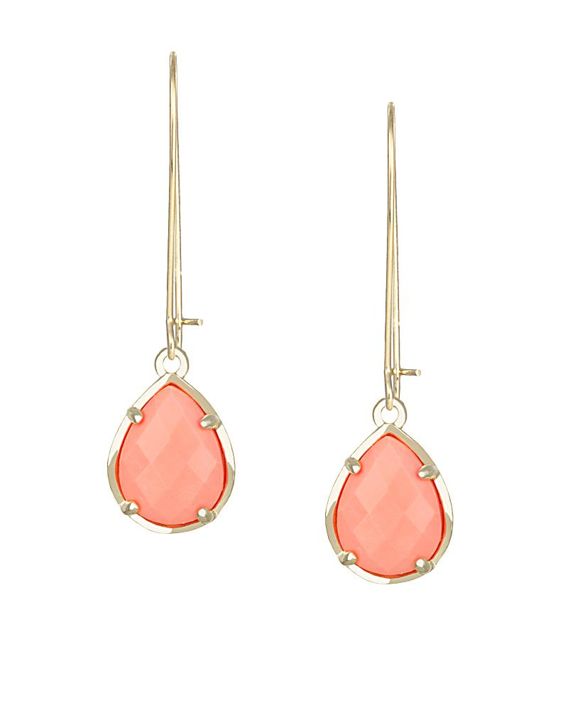 Dee Earrings in Coral