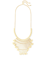 Lena Statement Necklace in Gold