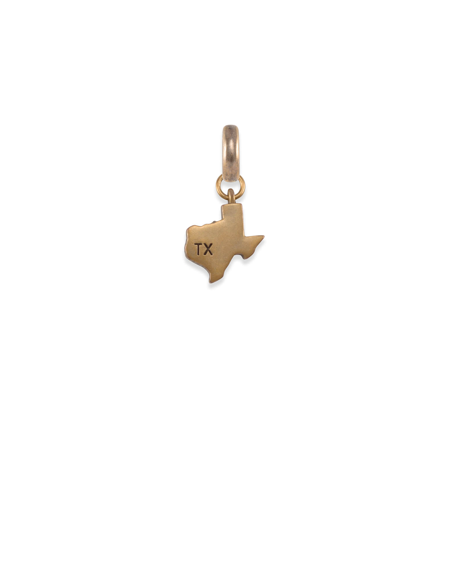 The State of Texas Charm in Vintage Gold