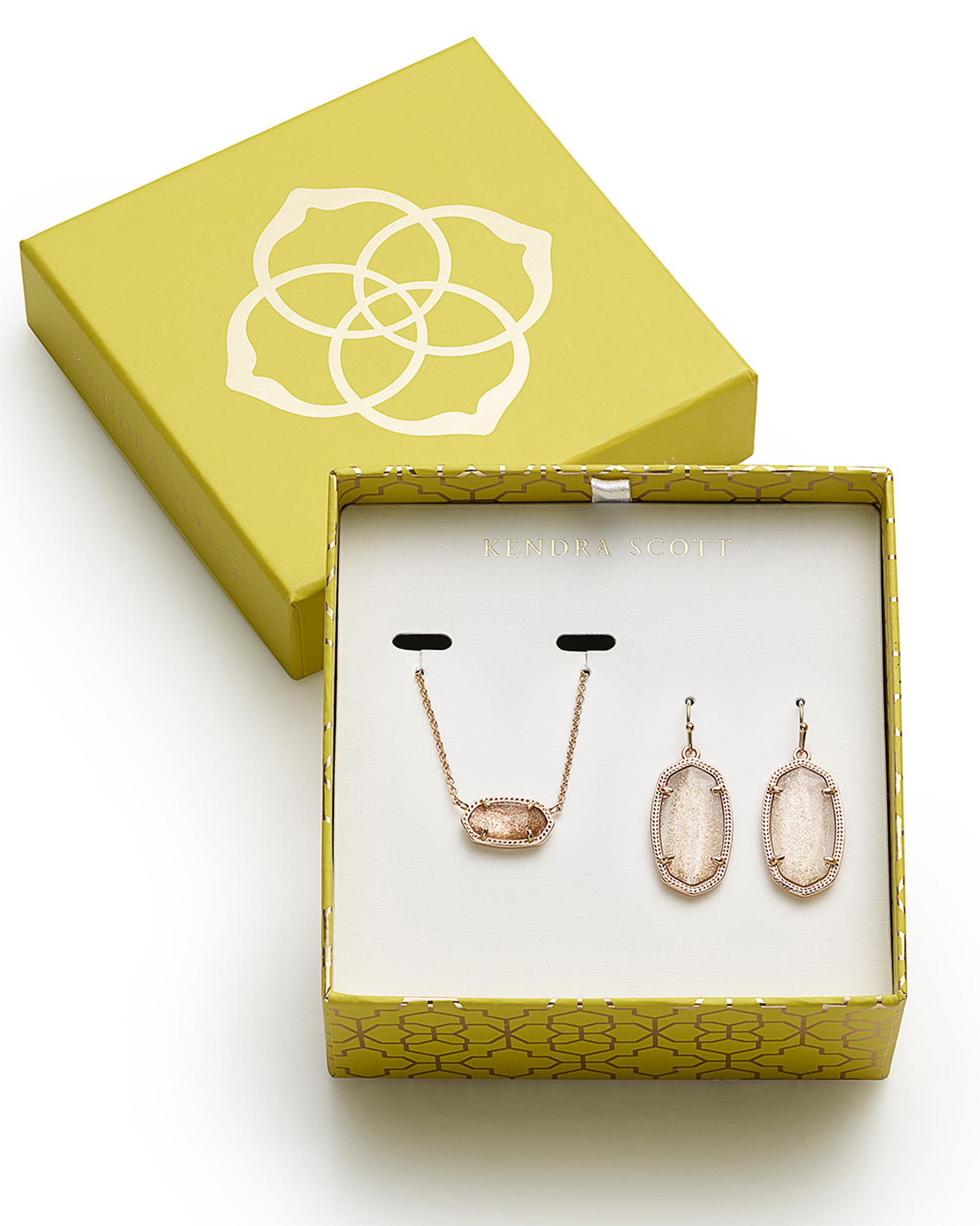 Dani Earrings and Elisa Necklace Gift Set in Rose Gold