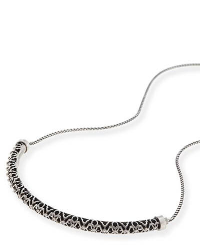 Lucy Choker Necklace in Antique Silver