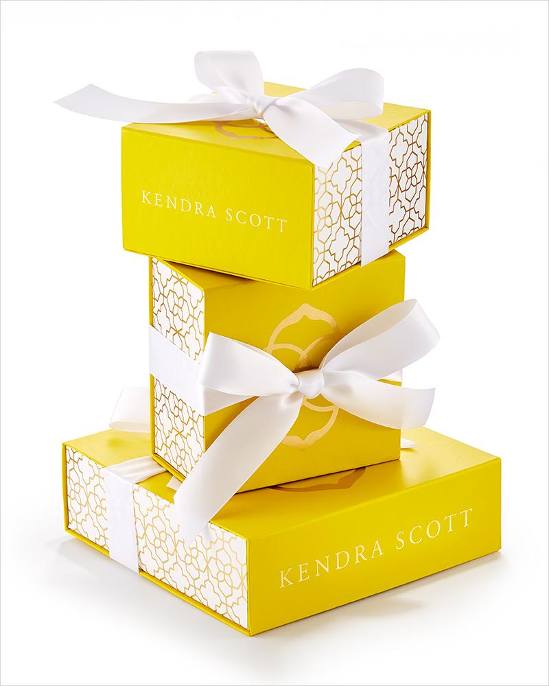 kendra scott yellow certificate boxes trunk gives egift allevents options kendrascott