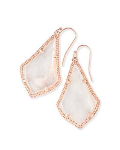 Alex Rose Gold Earrings in Ivory Pearl