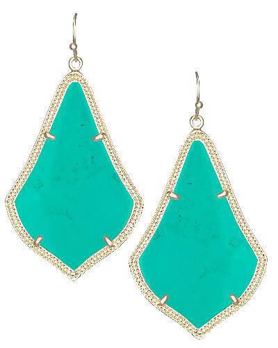 Alexandra Earrings in Teal