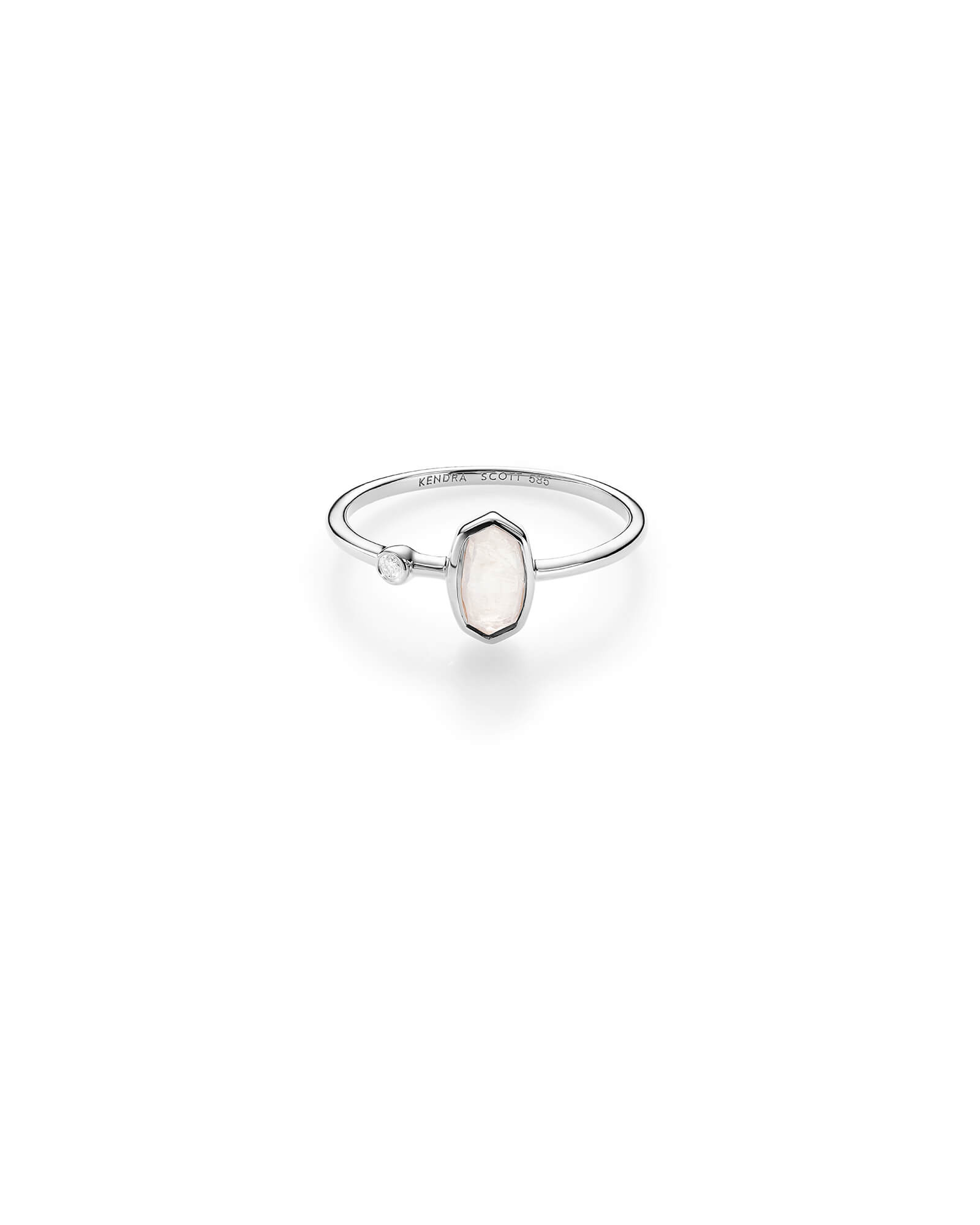 Chastain Ring in White Gold