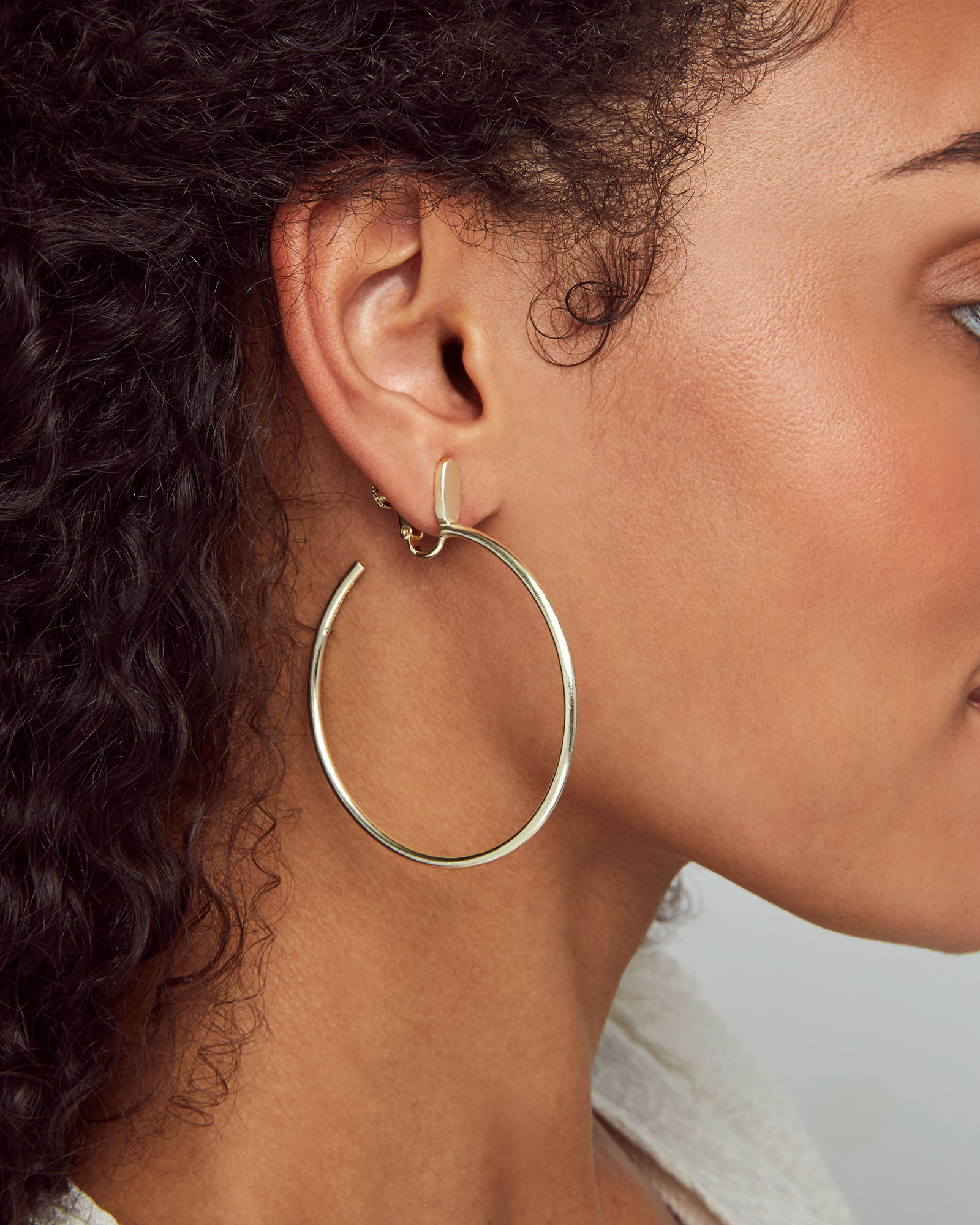Small Pepper Clip On Hoop Earrings In Rose Gold
