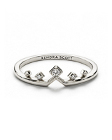 Michelle 14k White Gold Band Ring in White Diamond