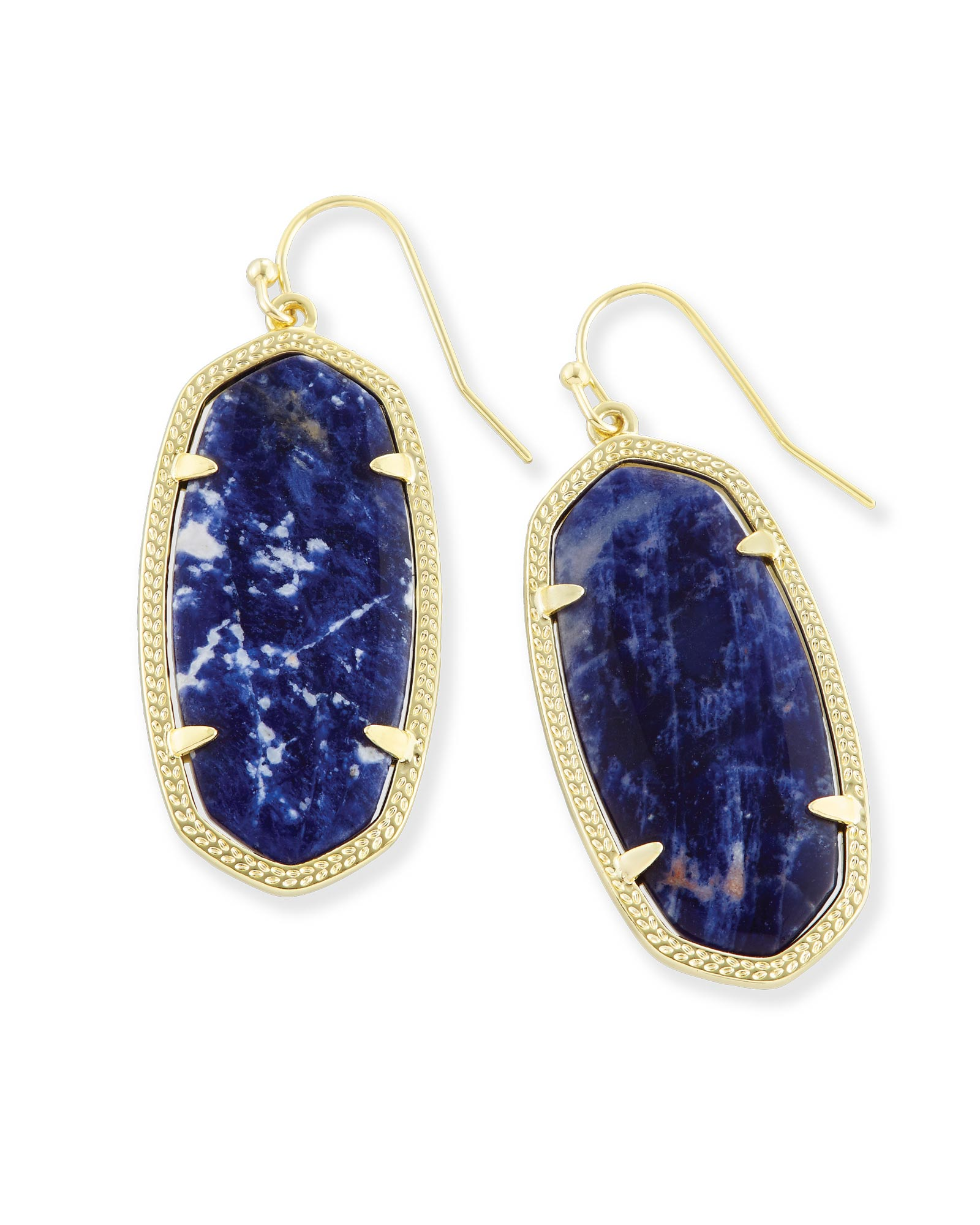 Elle Drop Earrings in Blue Sodalite