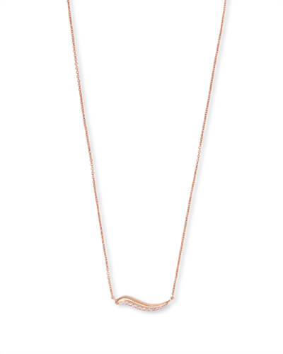 Jagger Pendant Necklace in Rose Gold
