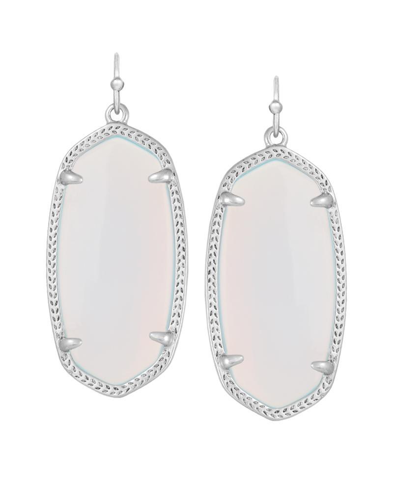 Elle Silver Earrings In Opalite