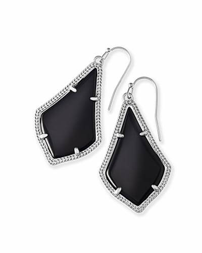 Alex Silver Earrings in Black