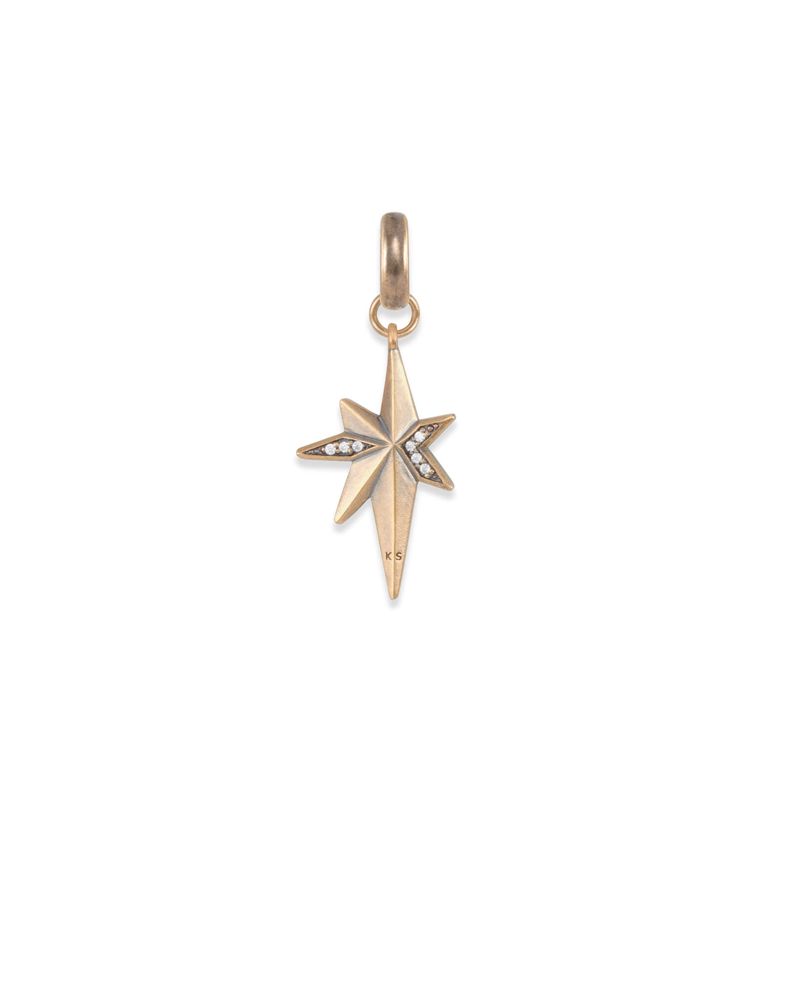 North Star Charm in Vintage Gold