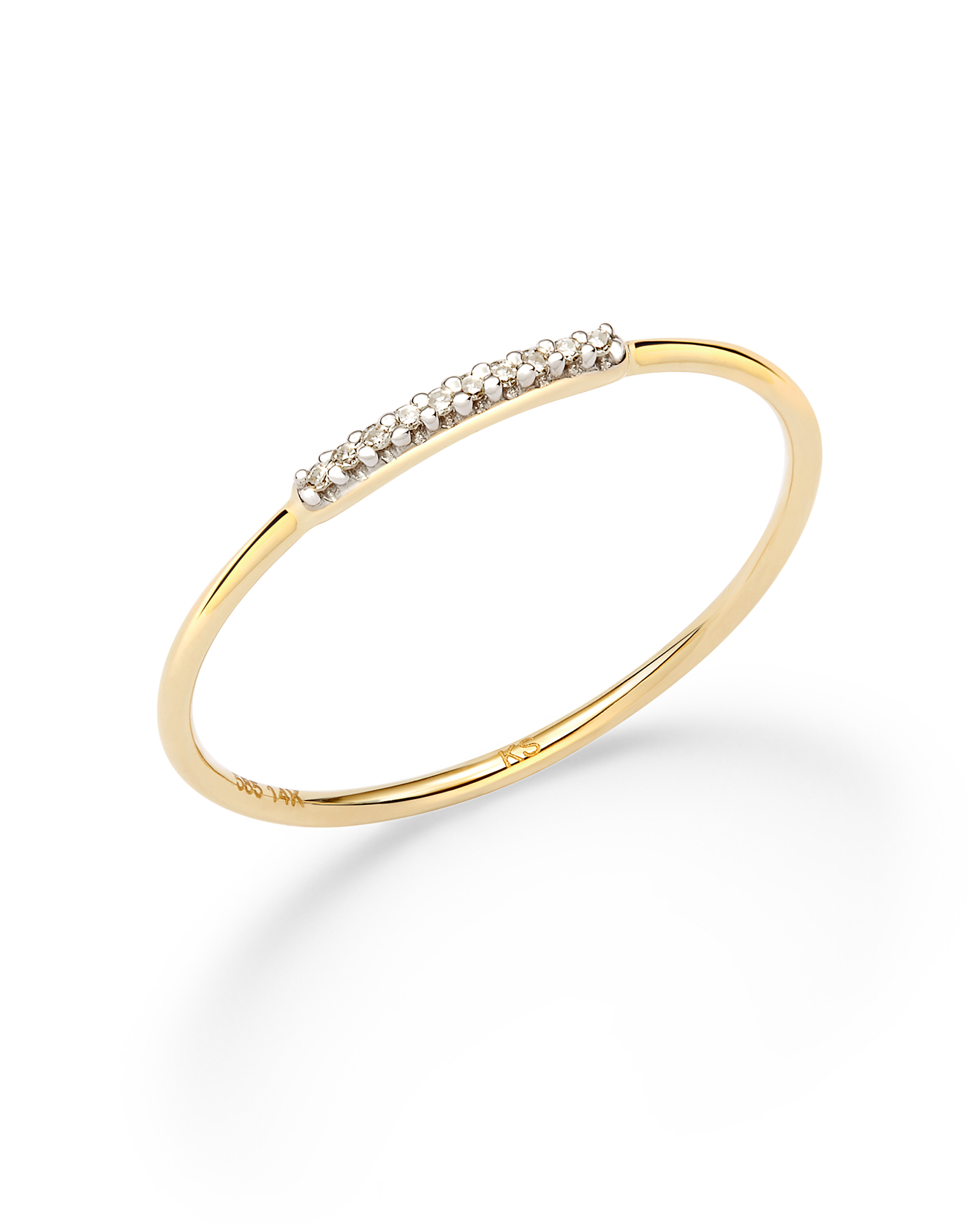 Mila Band Ring in White Diamond