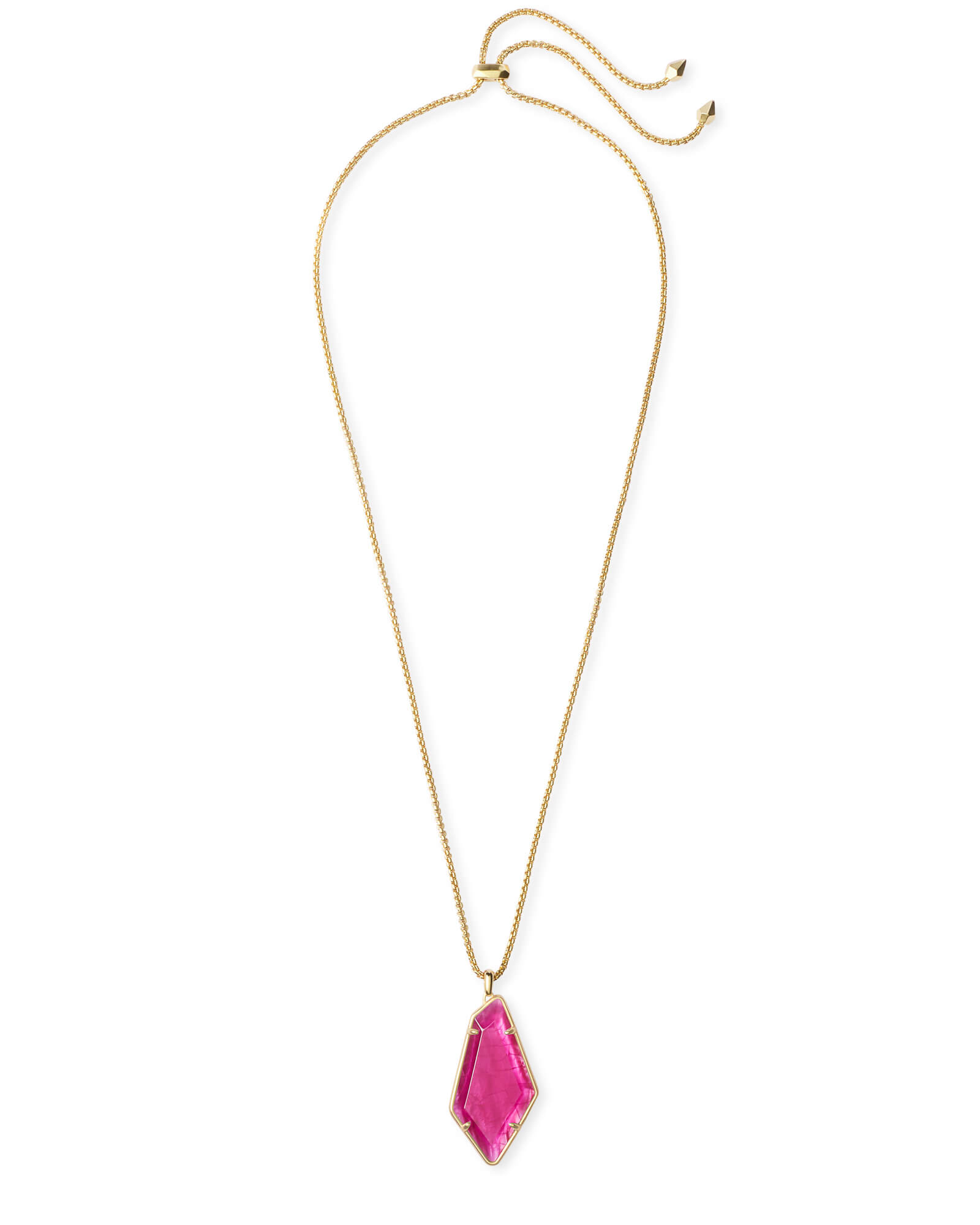 Lilith Gold Long Pendant Necklace in Azalea Illusion