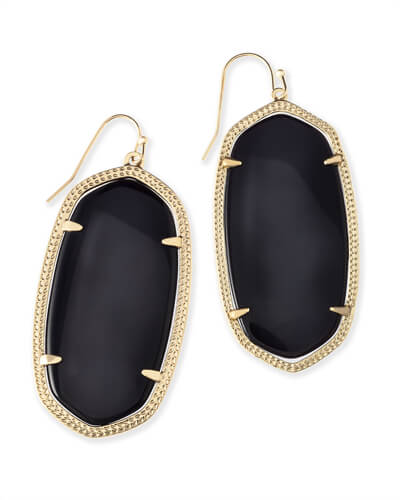 Danielle Gold Earrings in Black