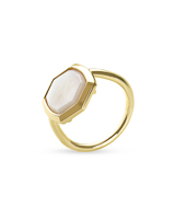 Davis 18k Gold Vermeil Cocktail Ring