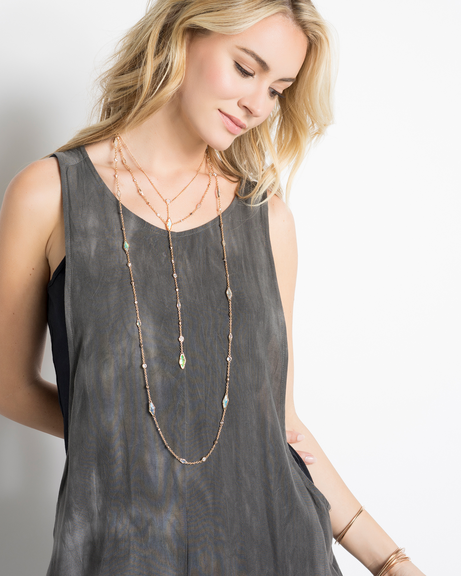 Zuly Long Necklace in Radiant
