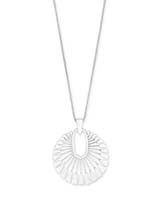 Deanne Long Pendant Necklace in Bright Silver