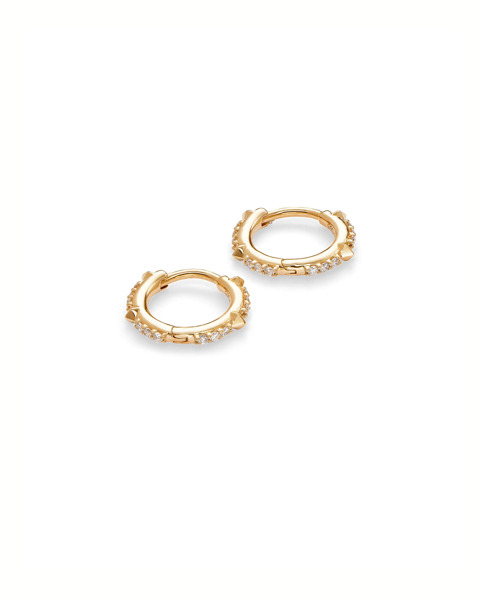 Jett 14k Yellow Gold Earrings in White Diamond