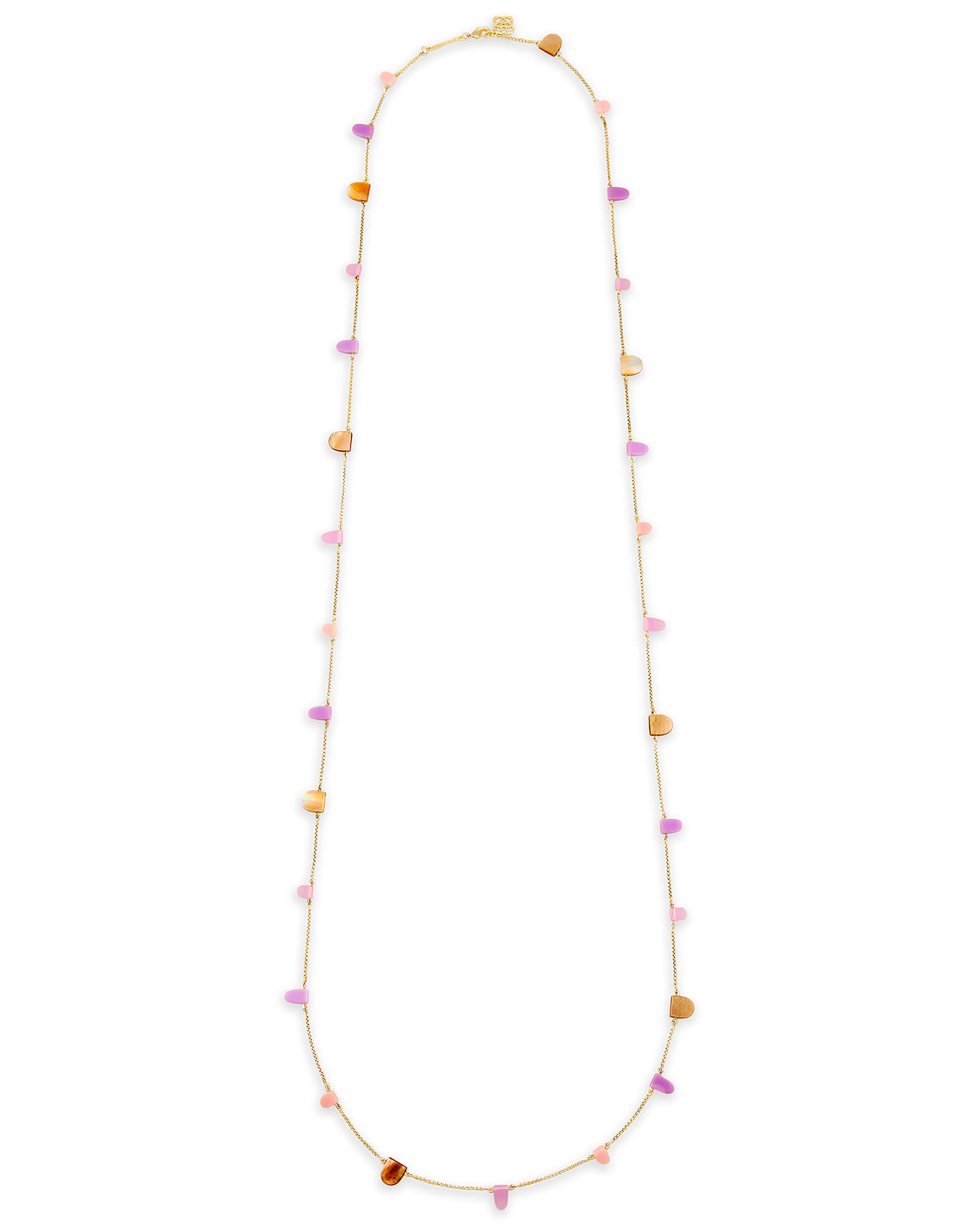 Leola Long Necklace in Blush Mix
