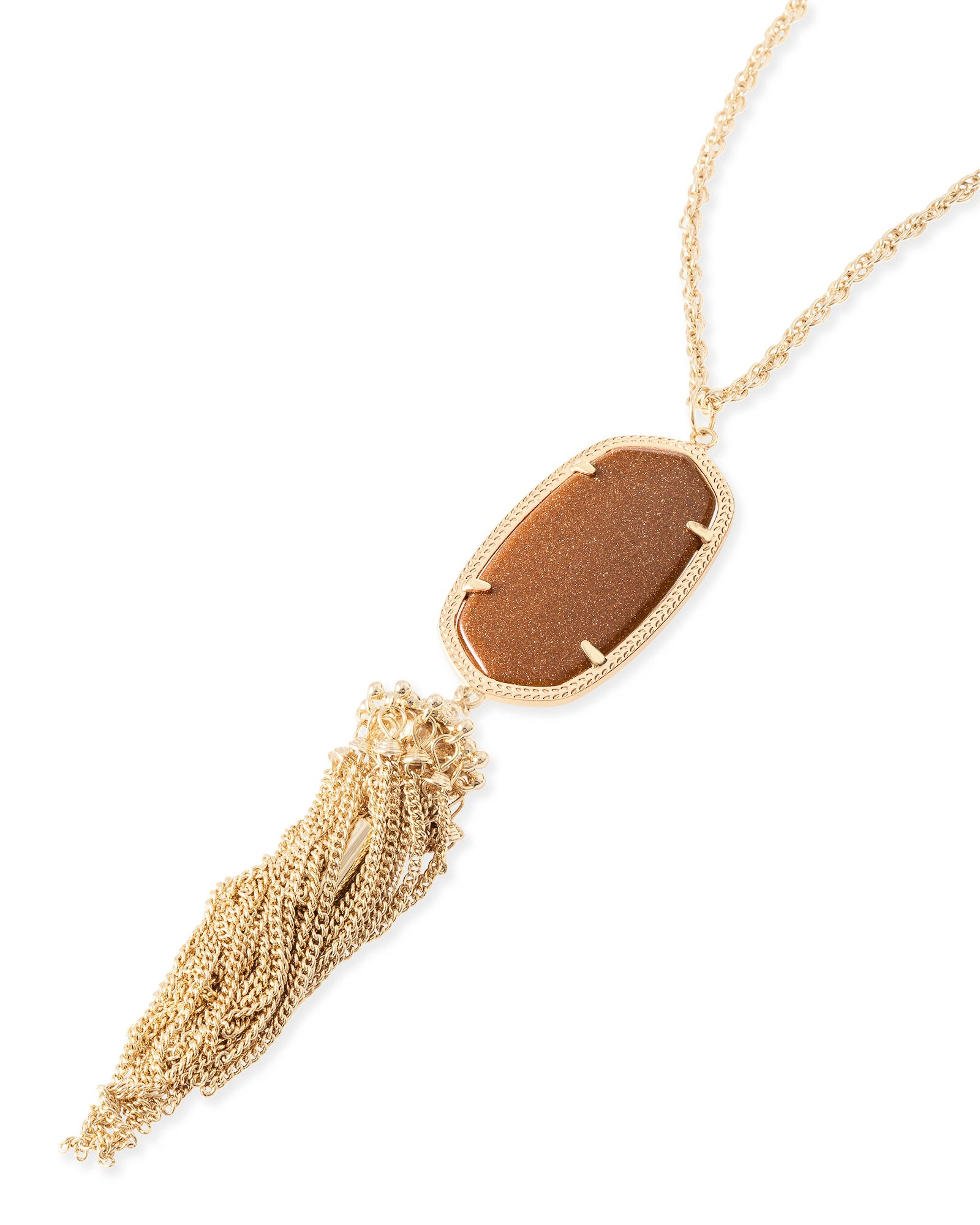 Rayne Necklace in Goldstone