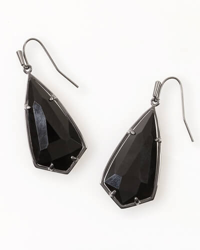 Carla Drop Earrings in Black