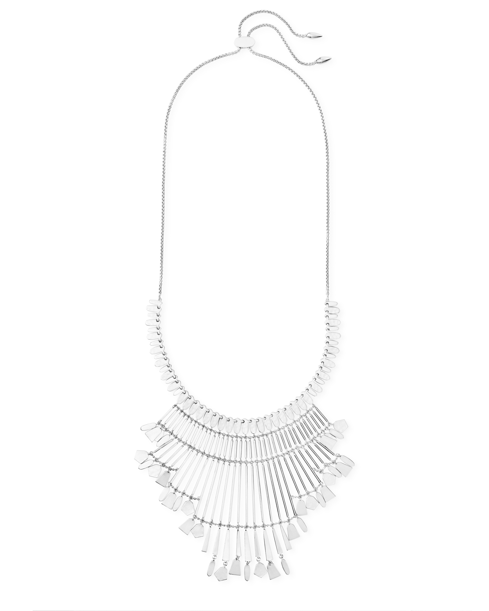 Lena Statement Necklace in Bright Silver