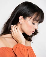 Caley Ear Cuff in Antique Brass