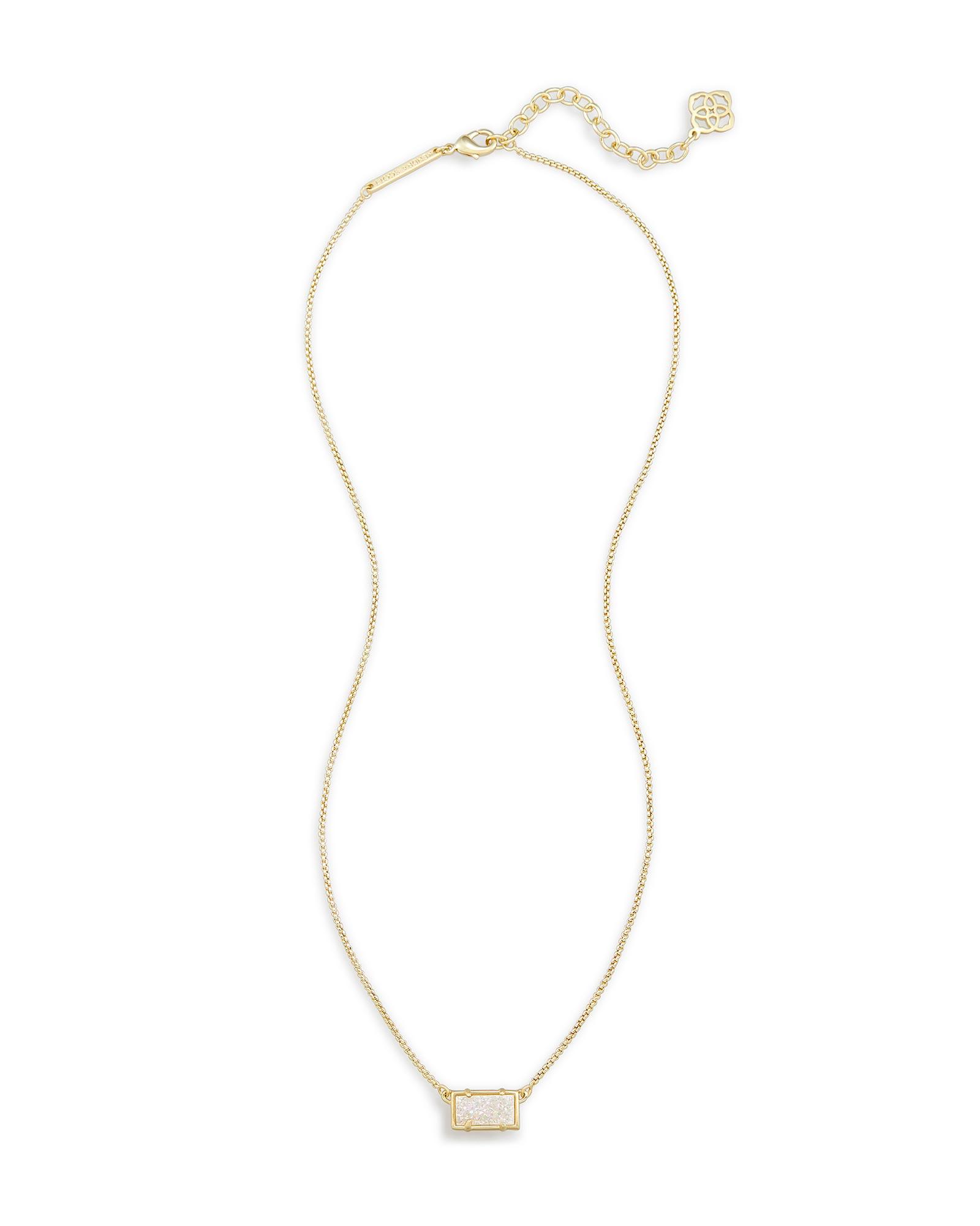 Pattie gold pendant necklace in drusy kendra scott for Kendra scott fine jewelry