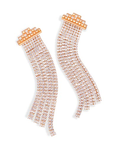 Olympia Statement Earrings Rose Gold