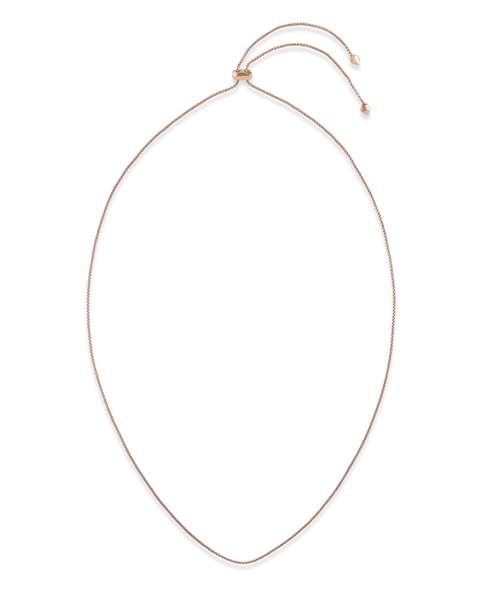 Thin Adjustable Chain Necklace in Rose Gold