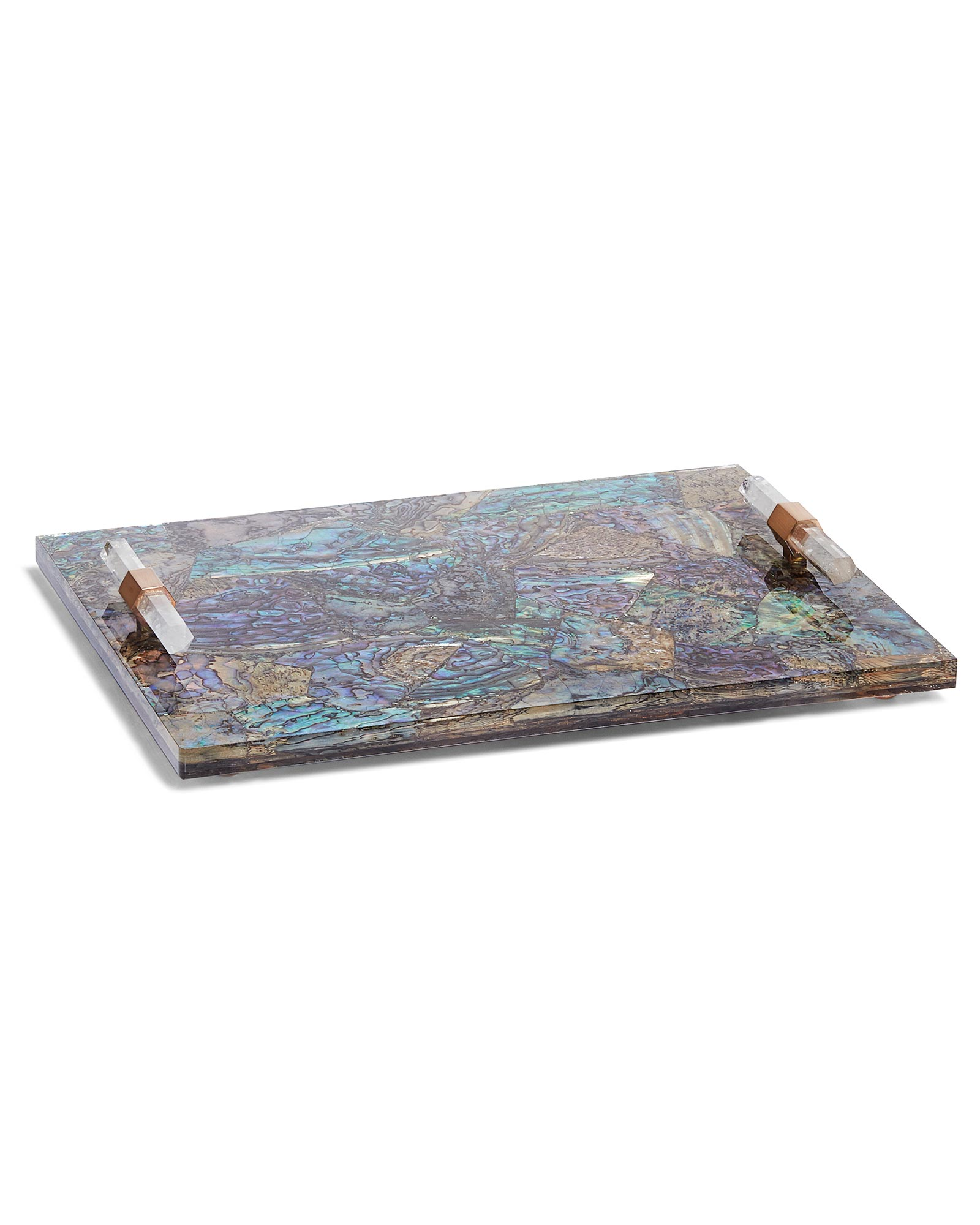 Small Tray in Crackle Abalone Shell