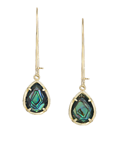 Dee Earrings in Abalone Shell