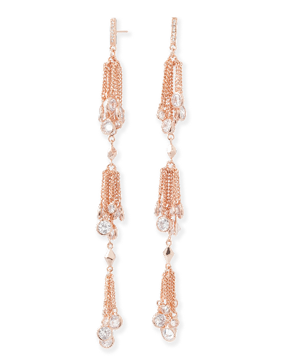 Tallulah Shoulder Duster Earrings in Rose Gold