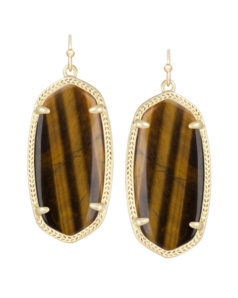 Elle Earrings in Tiger's Eye