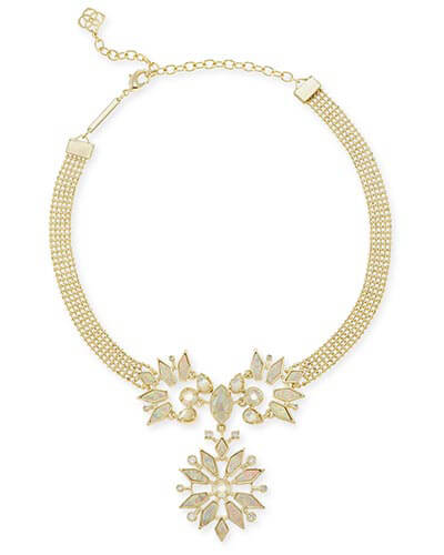 Isabella Choker Necklace in Ivory Zellige
