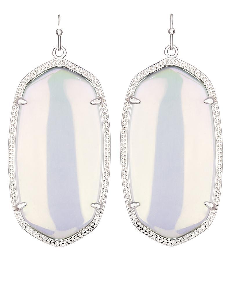 Danielle Silver Earrings In Iridescent Slate
