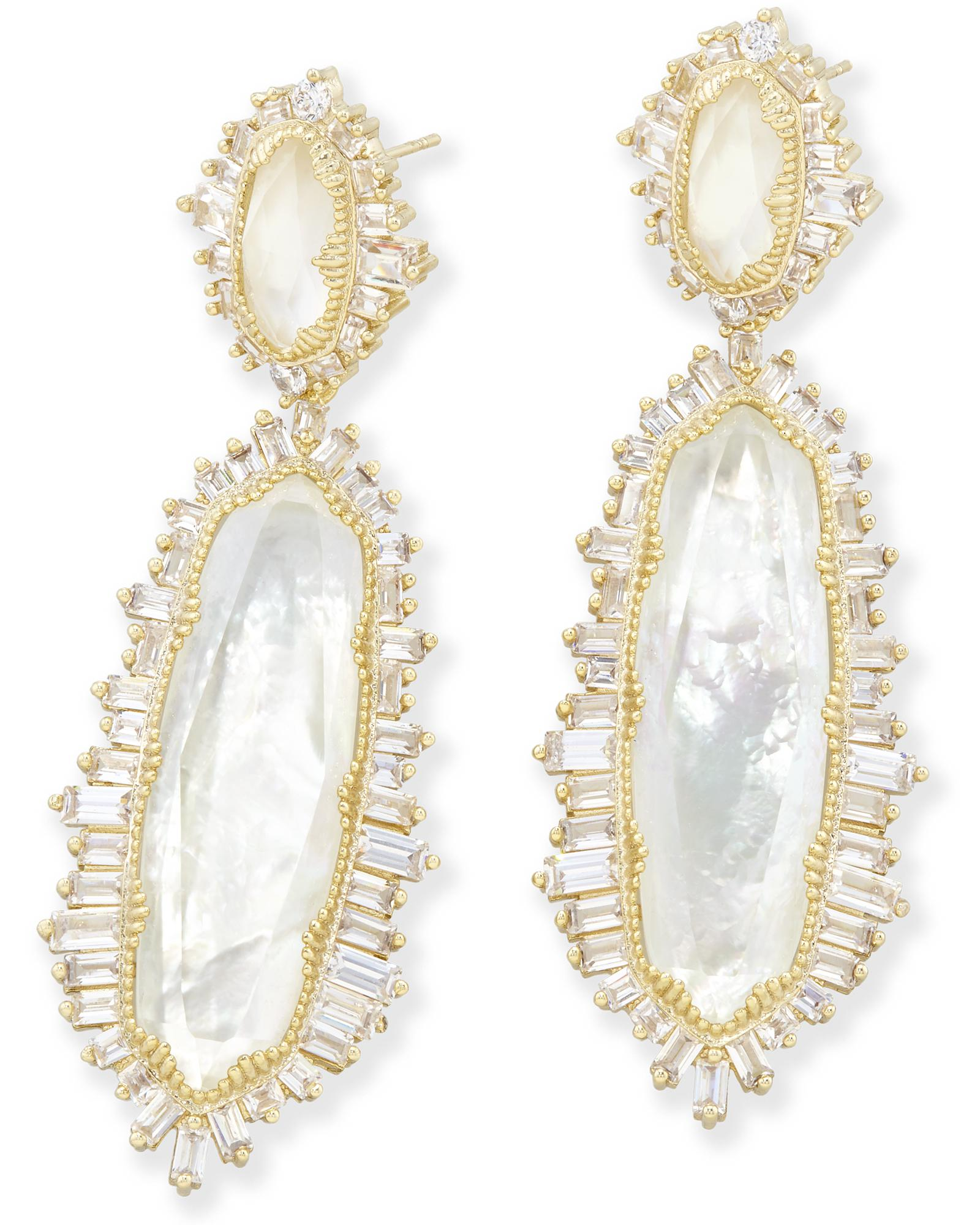 Katrina Statement Earrings in Gold