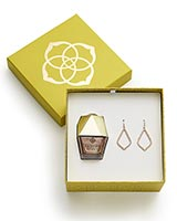 Sophia Earrings and Nail Lacquer Gift Set in Rose Gold