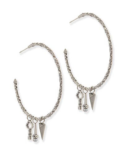 Shiloh Hoop Earrings in Antique Silver