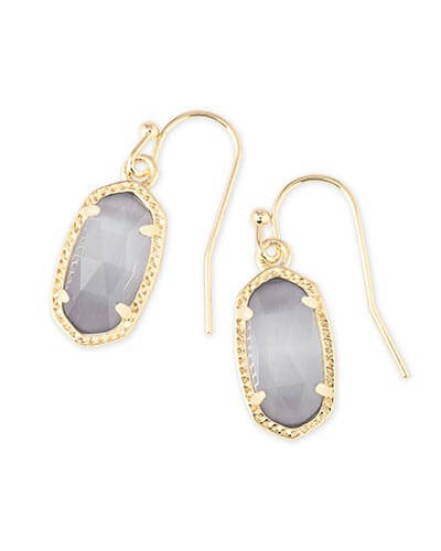 Lee Gold Earrings in Slate