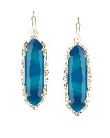 Fran Earrings Teal Agate