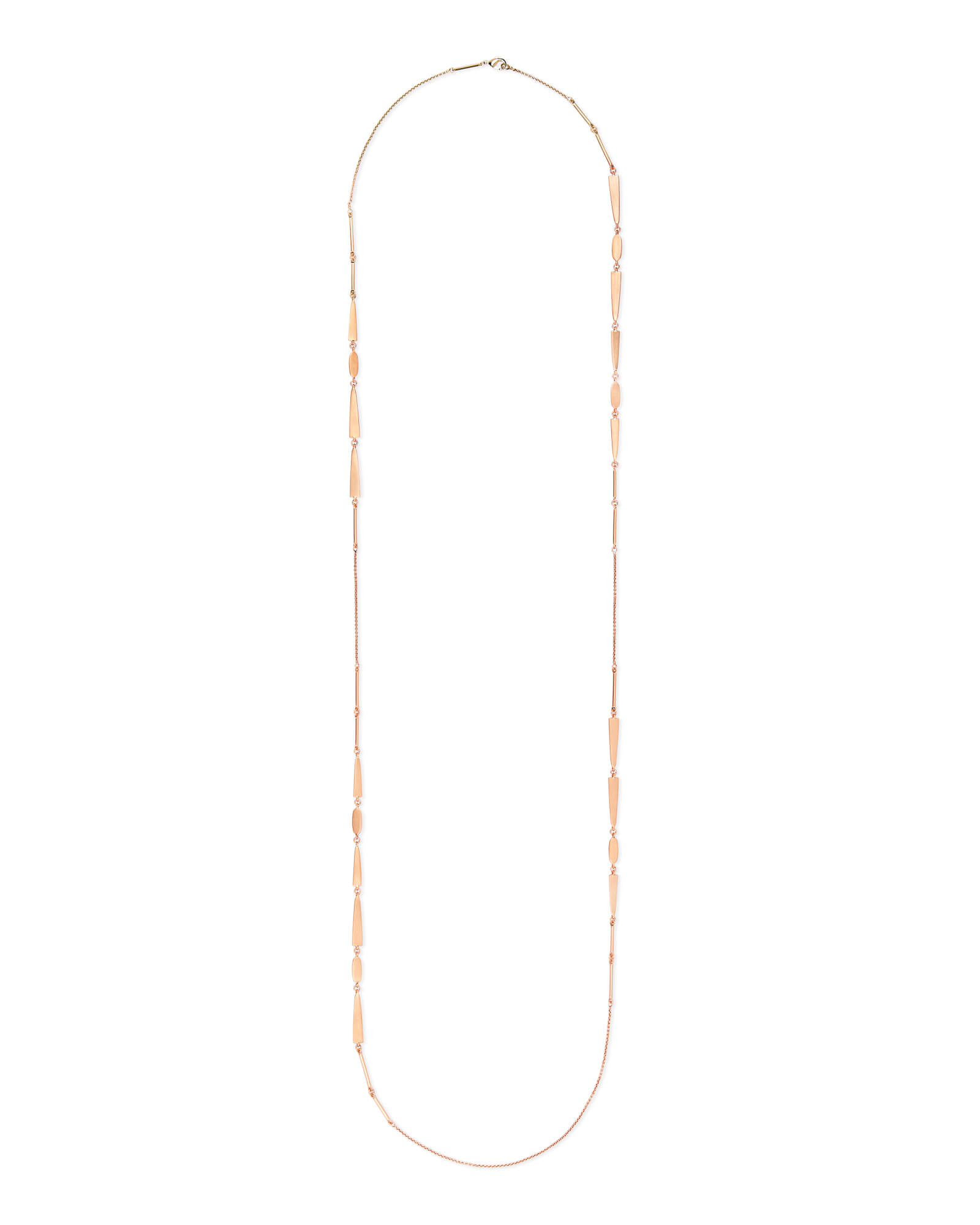 Averil Long Necklace in Rose Gold