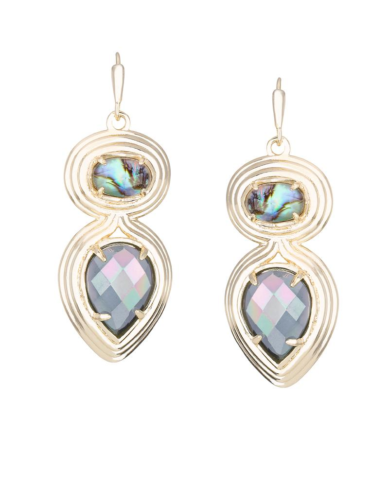 Yira Earrings in Abalone Gypsy