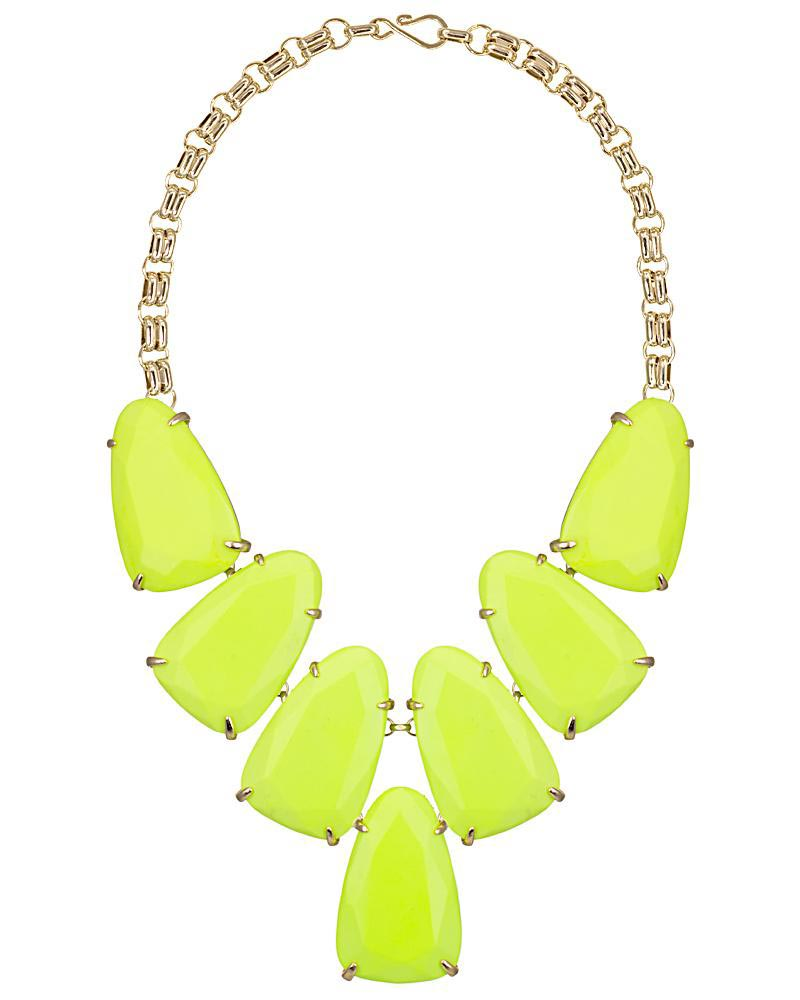 Harlow Statement Necklace in Neon Yellow