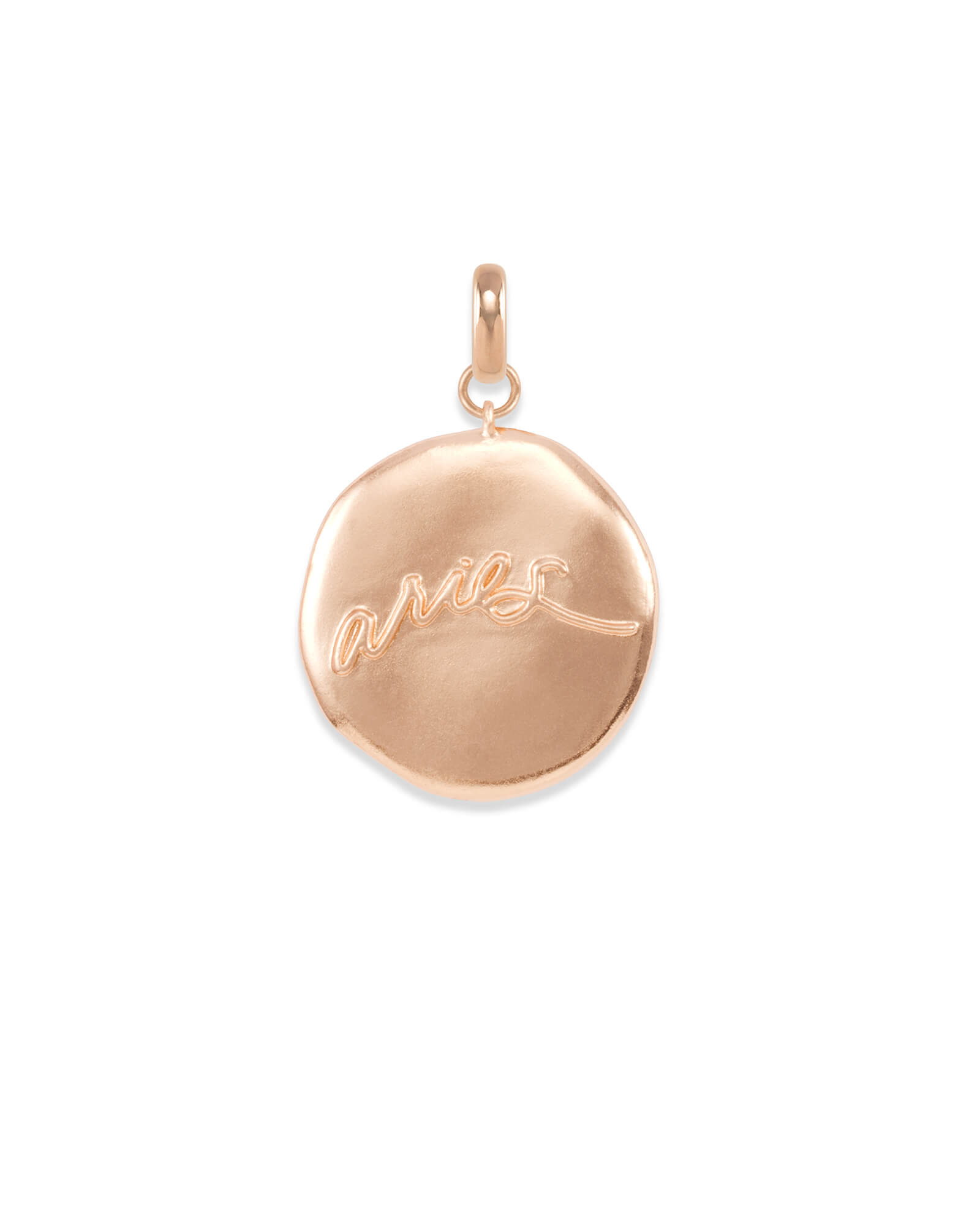 Aries Coin Charm in Rose Gold